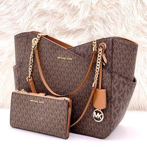 Michael Kors Shoulder Bag and Wallet Set